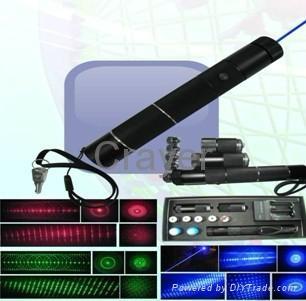CR-BL-01  五合一蓝色激光笔/手电筒 1