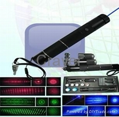 5 in 1 Red+ Green+Blue  High Power Laser Pointer/Torchwith 5 Star caps