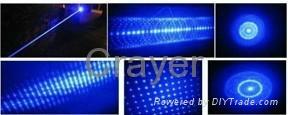 CR-BL-01  五合一蓝色激光笔/手电筒 2
