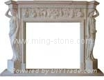 fireplace/granite fireplace/marble fireplace