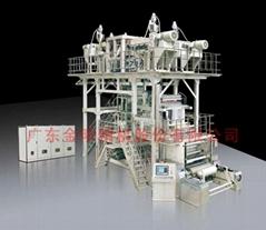 广东金明多层共挤下吹水冷式高阻隔膜吹膜机组