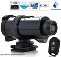 720P HD helmet camera with remote