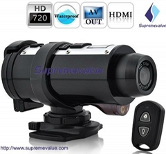 720P HD helmet camera with remote control can be used for Car Camera