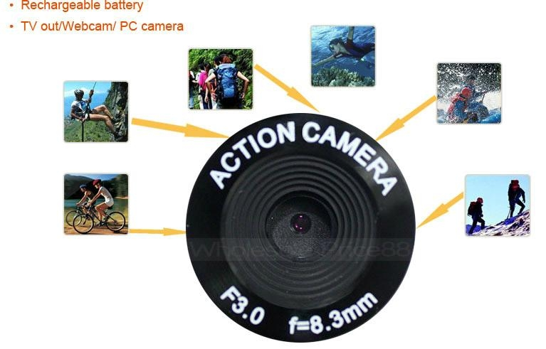 High Definition Waterproof Sport camera action recording -AT19 2