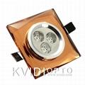 Kvidi LED crystal ceiling spot lamp 3W 2