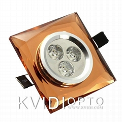 Kvidi LED crystal ceiling spot lamp 3W 2 Kinds of Color