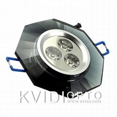 Kvidi led crystal ceiling spot lamp 3W 6 kinds of color