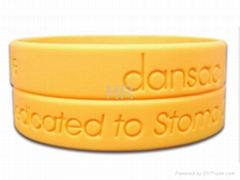 Charming latest silicone bracelet