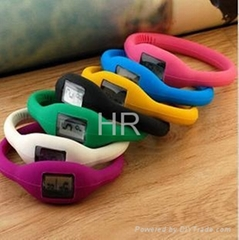Healthy silicone bracelet ion watch