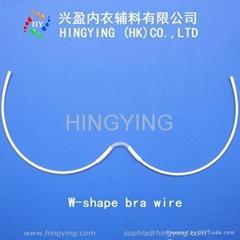 W-shape bra wire