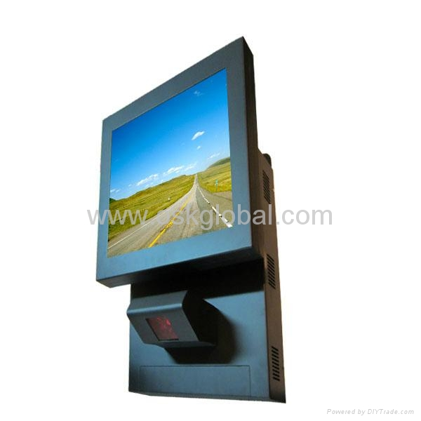 Slim Designed Wall Mount Touch Screen Kiosk With Barcode