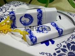 廠家專業生產青花瓷U盤企業推廣禮品紀念