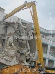 拆五六七层楼房挖掘机加长臂广州价格