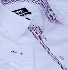 Xcite White Shirt with chintz printed Innert