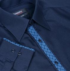 Xcite Navy Blue Designer Shirt