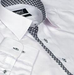 Xcite White Shirt with Black + White Check Innerts