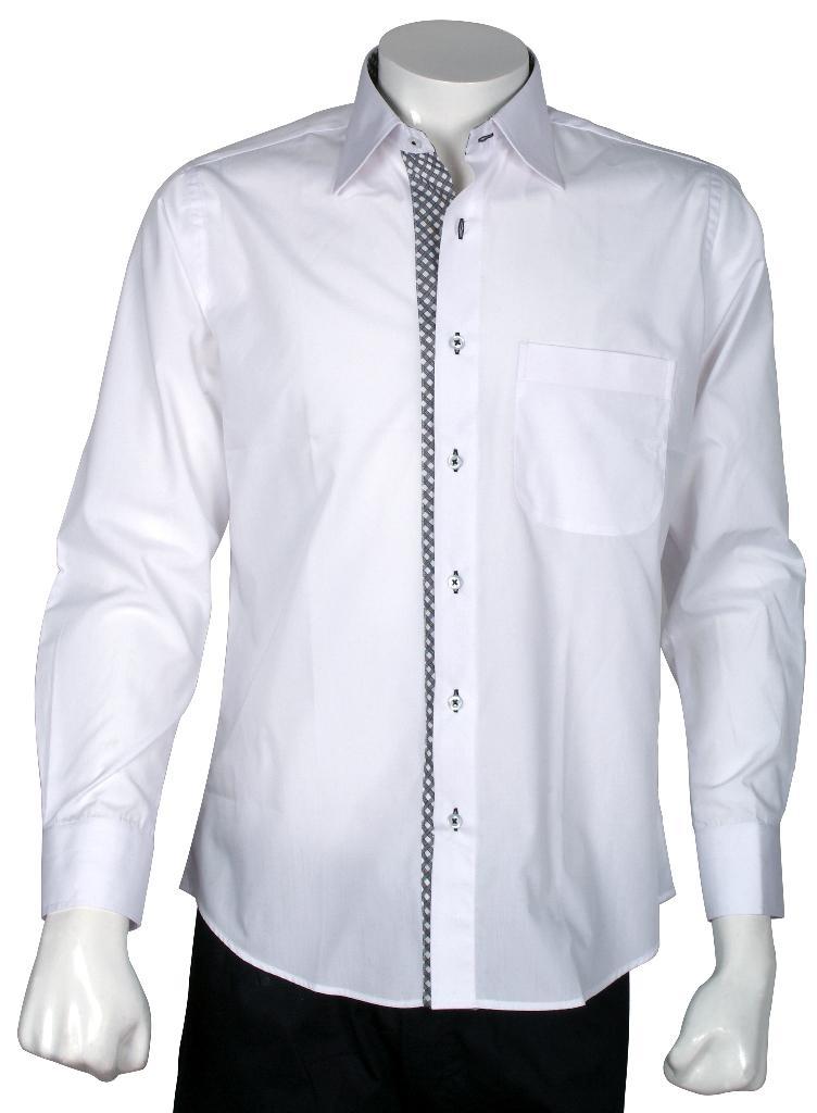 Xcite White Shirt with Black   White Check Innerts - FP1461 ...