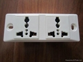 Supply two universal plug, medical electrical outlet, assembly line socket
