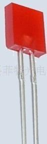 供应2*5*7*红色LED 短脚高亮红光LED 方形红色发光 1