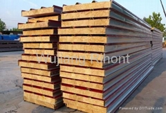 Fireproof rockwool sandwich panel for roof