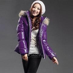 冬季保暖貉子毛条纳米涂层带帽棉衣