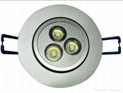 厂家直销大功率LED天花灯3W天花灯