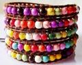 Turquoise Beads Leather Wrap Bracelets 3
