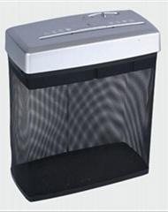 Mesh bin paper shredder