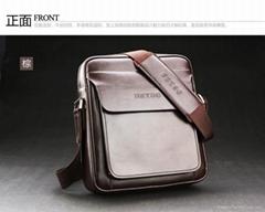men leather shoulder bag