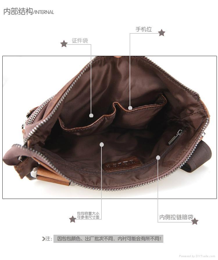 men leather shoulder bag - 8829-2