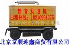 超靜音發電機北京租賃