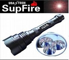 強光手電筒 神火SupFire Q5LED Y5 800流明