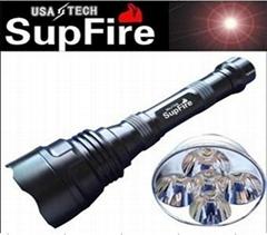 強光手電筒 神火SupFire Q5LED Y6 900流明