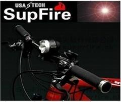 自行車燈 頭燈 兩用 SupFire神火 Q5強光手電筒