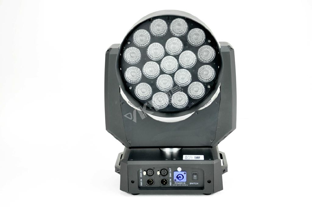10-53 degree zoom Osram 10W 19pcs 4in1 moving head 1