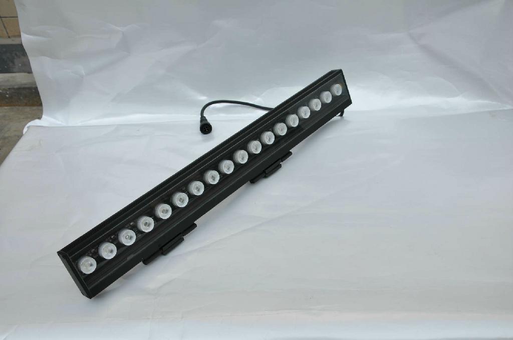 Waterproof IP66 led wall washer light 1w*18pcs Edisons RGB lamps  5