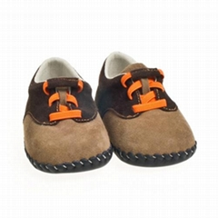 cow leather baby shoes