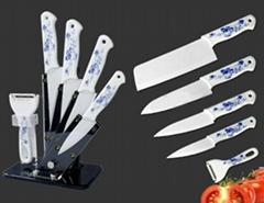 Deluxe ceramic kitchen knife set