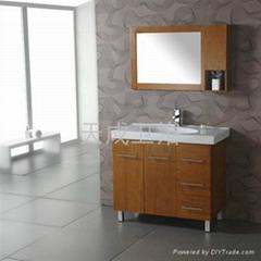 高档实木落地浴室柜