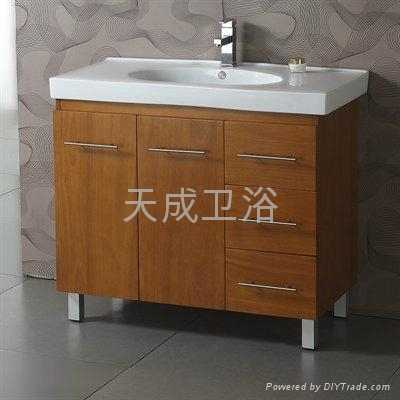 High Quality Oak Solid Wood Bathroom Vanity Tc 80102 Tiancheng China Manufacturer