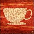 咖啡杯子油畫 2