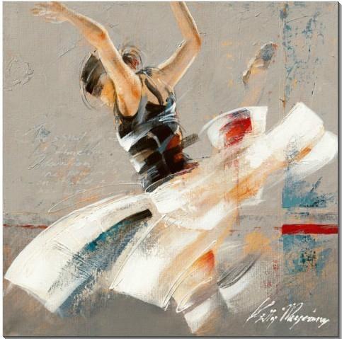 芭蕾女孩手繪油畫 1