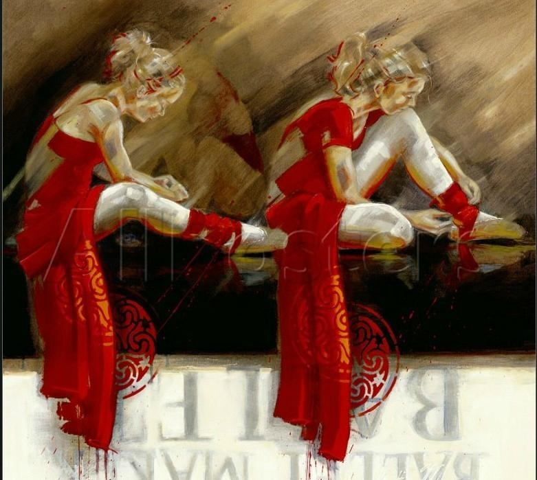芭蕾女孩手繪油畫 4