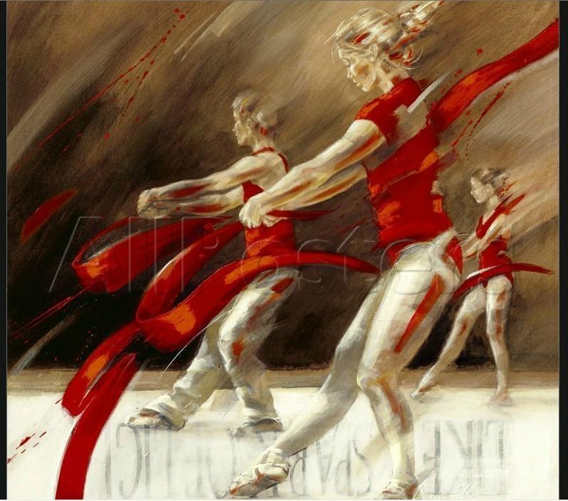 芭蕾女孩手绘油画