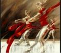 芭蕾女孩手繪油畫 5