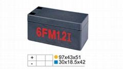 12V 1.2Ah阀控式免维护硅液蓄电池