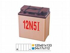 12V 5AH摩托車免維護硅液蓄電池
