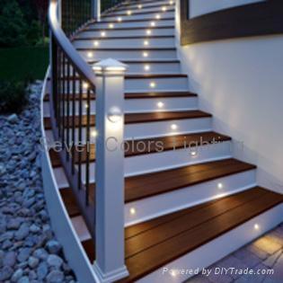 Outdoor Round RGB LED Deck Light Kit (SC-B101C) 4