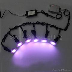 Outdoor Round RGB LED Deck Light Kit (SC-B101C)
