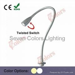 1W Flexible LED Reading Light Bed Lamp